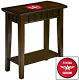 NEW! Chairside Table in an Espresso Medium Brown Finish Featuring the Choice of Your Favorite Vintage Gas Themed Logo! (Flying A)