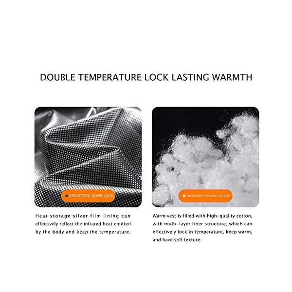 Gilet Chauffant Homme Femme Veste Chauffante Électrique USB Vêtement de Chauffage avec Chauffé 3 Températures Réglables…