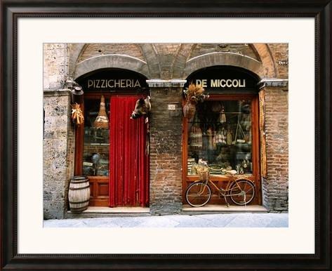 Historic Food Store in Siena, Tuscany, Italy by John Elk III