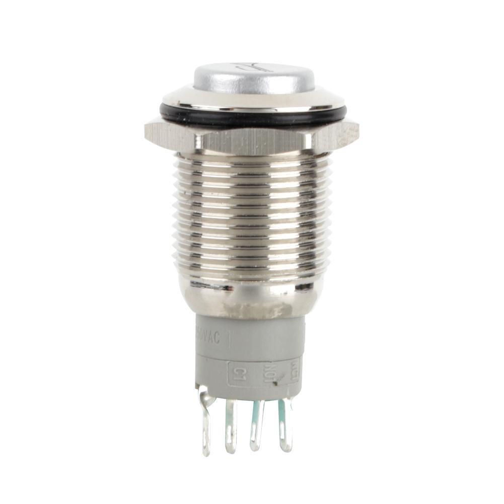 Qiilu 16mm LED Rojo Coche Bot/ón de bocina Interruptor de presi/ón cuerno interruptor de bot/ón pulsador
