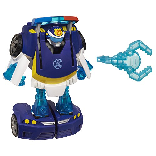 Playskool Heroes Transformers Rescue Bots Energize Chase the Police-Bot Action Figure, Ages 3-7 (Amazon Exclusive)