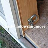 Loop Style Spring Barrel Bolts 1 Pair, Shed Door Hardware, Playhouse Door