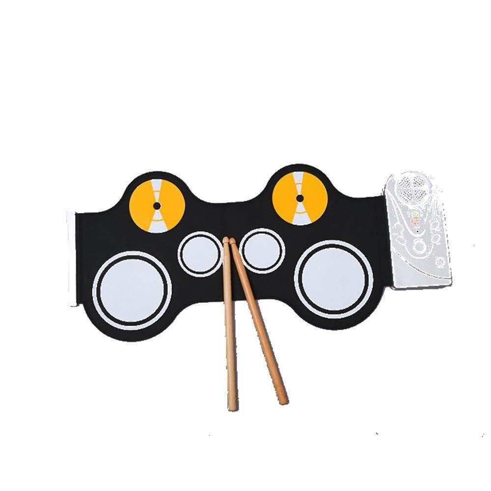 XINGXIANYIGOU Electronic Percussion pad, Electronic Music Pad, Tasteless and Non-Toxic Silicone Hand Roller Portable for Beginners