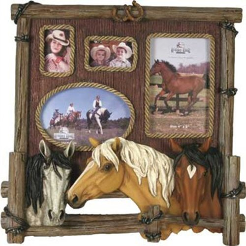 Amazon.com : Rivers Edge Products Four Photo Horse Picture Frame ...