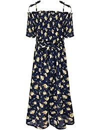 30f1f23ee421 Big Girls Floral Printed Smocking and Ruffle Detailed Jumpsuits (Many  Options)