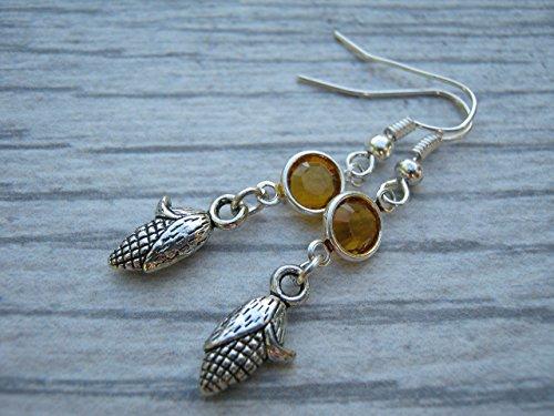 corn husk earrings - 1