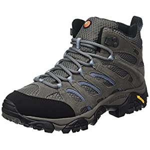 Merrell Women's Moab Mid GORE-TEX Waterproof Walking Boots - SS17 - 8.5 - Grey