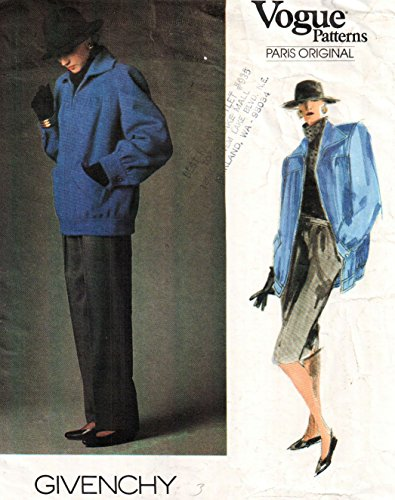Vogue Givenchy vintage sewing pattern 1787 mod jacket, skirt, pants - Size ()