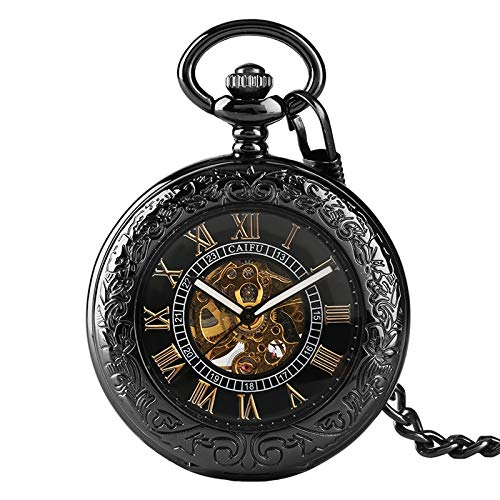 Amazon.com: Hollow Transparent Glass Mechanical ES Men Cover Steampunk Relojes De for Men Women: Cell Phones & Accessories