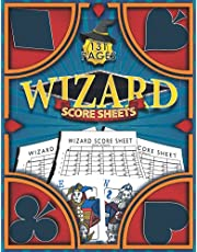 Wizard Score Sheets: 131 large Wizard Score Cards for Scorekeeping 8.5x11 inches - Wizard Score Pads record keper