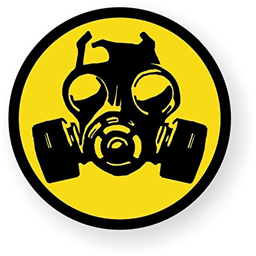 1-Pc Grand Unique Gas Mask Symbol Zombie Car Stickers Hard Hat Label Window Permit Wall Luggage Patches Laptop Decor Decal Home Art Funny Graphics Vinyl Sticker Decals Size 2