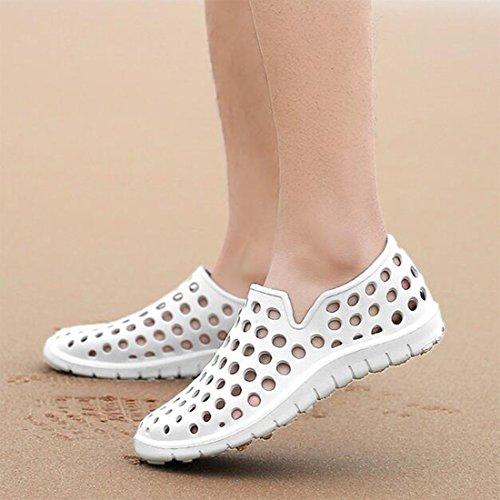 Sandalias De Pies Parejas White Al Aire Verano Zapatillas Y Libre Conjunto Zapatos Playa 11Odqr