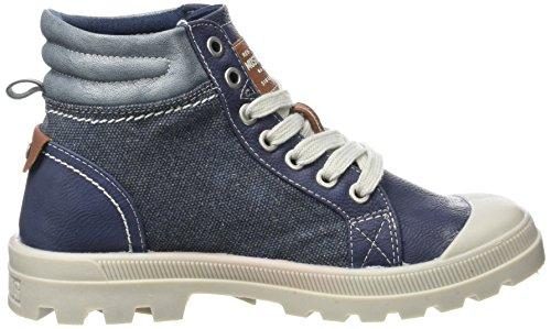 Mustang Damen 1160-506 Combat Boots, Blau (800 Dunkelblau), 36 EU