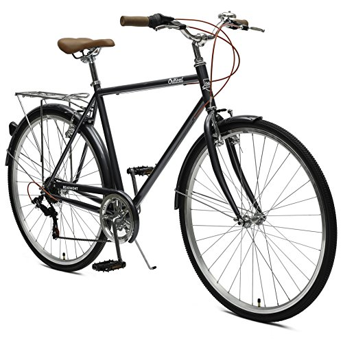 Critical Cycles Beaumont-7 Seven Speed Men's Urban City Commuter Bike; 54cm, Graphite