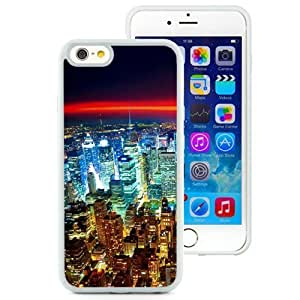 Beautiful Unique Designed iPhone 6 4.7 Inch TPU Phone Case With Seattle Night City Lights Red Horizon_White Phone Case