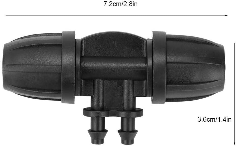 Fdit1 Raccordo per irrigazione da Giardino con connettore per Tubo Flessibile a Quattro Vie da 50 Pezzi per connettore dellAcqua a 8//12 Tubi