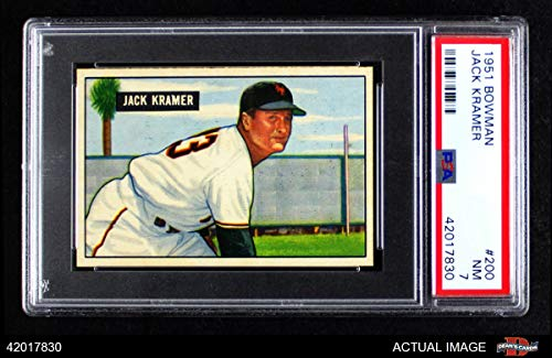 1951 Bowman # 200 Jack Kramer New York Yankees (Baseball Card) PSA 7 - NM Yankees