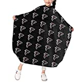 Marrytiny Design Barber Hair Cutting Cape Apron Kids Atlanta Falcons Football Team Salon Haircut Styling Smock Cover Cloth for Toddler Home Hairdresser Gown Bib 39x47 Inches