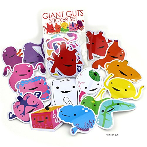 Giant Guts Sticker Pack of 15 I Heart Guts Stickers]()