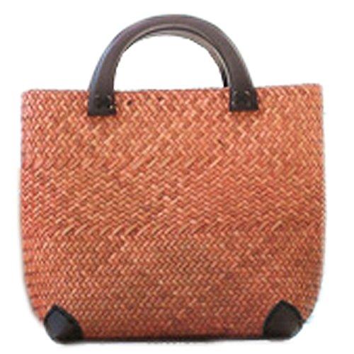 bordado hecho a mano de punto/tejido bolso/taleguilla de paja de la rota de bambú