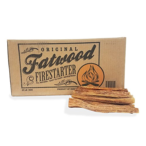 Pine Firewood Tree - 2405 Earth Worth | 25 Pound Box - Fatwood Firestarter