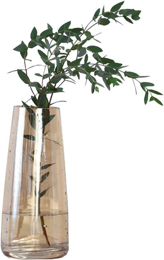 KatoonX Flower Vases Crystal Glass for Home Decor Wedding or Gift (Brown)