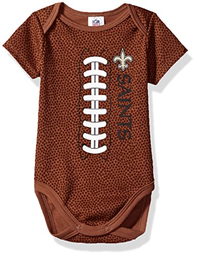 NFL New Orlean Saints Unisex-Baby Football Bodysuit, Brown, 3-6 Months