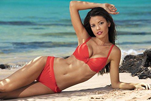 Feba Push Up Bikini conjunto para mujer Natallie Coral