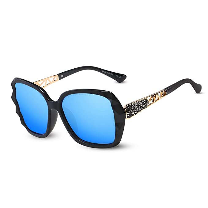 LumiSyne Gafas de sol Mujer Gradient Espejo, Gafas UV 400 ...