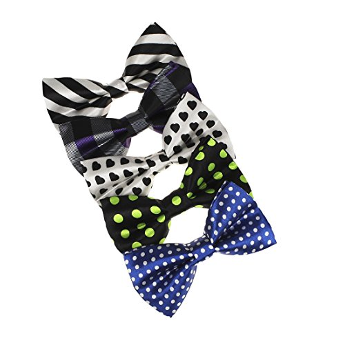 Dan Smith Mens Fashion Various Styles Pre-tied Bow Ties - five colors With Free Gift Box