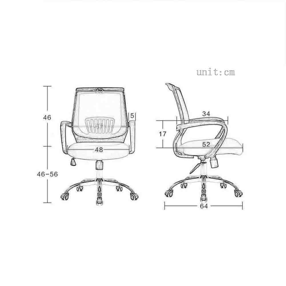 JXXDDQ svängbar stol PU ergonomisk lyft datorstol hem liggande kontorsstol (färg: Lack) Vit + svart