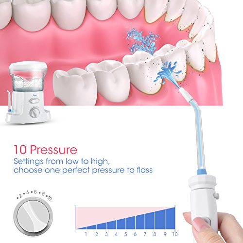 homitt water flosser 9 multifunctional tips countertop dental oral irrigator with 10 pressure. Black Bedroom Furniture Sets. Home Design Ideas