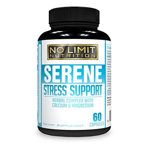 Meeka Nutrition - Serene Anxiety & Stress Support Dietary Supplement - Herbal Complex With Calcium & Magnesium; Ashwagandha, B Vitamins, DMAE, GABA & More