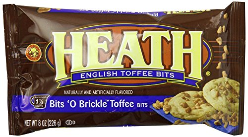 HEATH BITS O' BRICKLE Baking Chips, Toffee Bits, Kosher/Gluten Free, 8 Ounce Bag