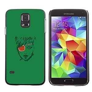 A-type Arte & diseño plástico duro Fundas Cover Cubre Hard Case Cover para Samsung Galaxy S5 (Pirate Girl)