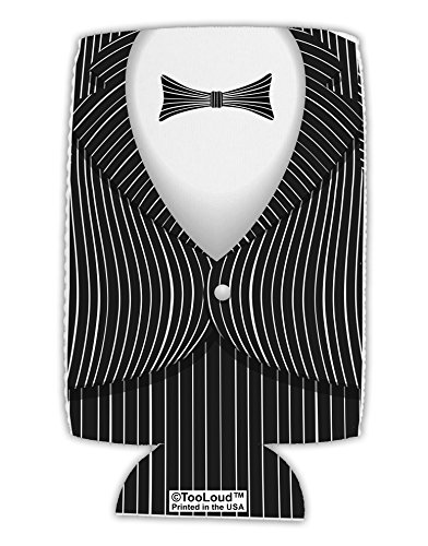 TooLoud Skeleton Tuxedo Suit Costume Collapsible Neoprene Tall Can Insulator All Over Print