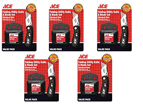 ace-hardware-folding-utility-knife-and-blade-set-with-250-blades-2199644-5-pack