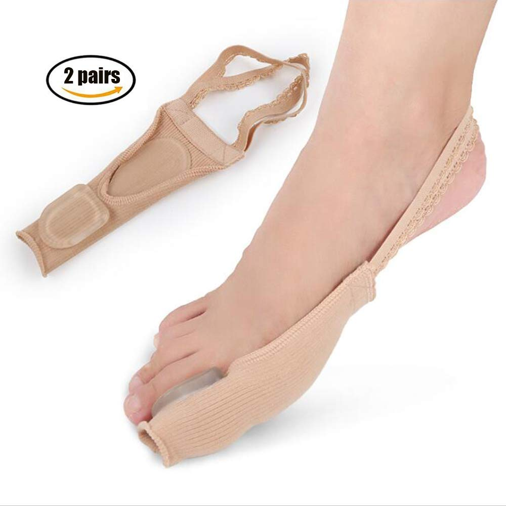 HAIHF Big Toe Correction Belt,Bunion Corrector Big Toe Splint Brace Toe Straightener Separators Hallux Valgus Splints for Bunion Relief,Overlapping Toe (Nude Color) by HAIHF