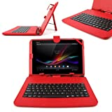 DURAGADGET Stand Case Cover With Micro USB Keyboard For Samsung Galaxy Tab Pro 10.1, Note N8000 10.1 inch Tablet, Galaxy Tab 10.1 P7500/P7510 GT-P7500FKDXEU & GT-P5110TSAXEF P5110 Galaxy Tab 2