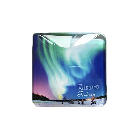 3D Nordic Finland Aurora Frigorífico Imán de Nevera Cristal de ...
