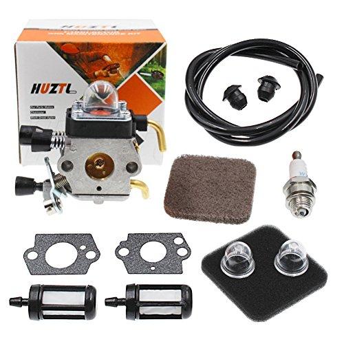 Kit Side Mount Muffler - C1Q-S97 Carburetor with Fuel Repower Kit Air Filter for STIHL FS75 FS80 FS80R FS85 FS85R FS85T FS85RX String Hedge Trimmer Weedeater C1Q-S71 C1Q-S97 C1Q-S143 C1Q-S153 C1Q-S186