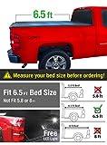 Premium Tri-Fold Truck Bed Tonneau Cover 2007-2013 Chevy Silverado / GMC Sierra 1500; 2007-2014 Silverado / Sierra 2500 3500 HD | Excl. 2007 Classic | Fleetside 6.5 Bed