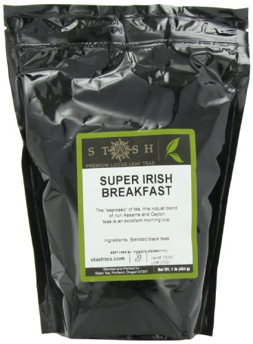 Tea Black Irish Tea (Stash Tea Super Irish Breakfast Loose Leaf Tea 1 lb Pouch Loose Leaf Premium Black Tea for Use with Tea Infusers Tea Strainers or Teapots, Drink Hot or Iced, Sweetened or Plain)