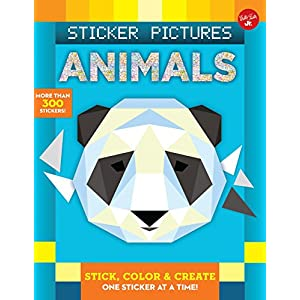 Sticker Pictures: Animals: Stick, color & create one sticker at a time! (Sticker & Color-by-Number)