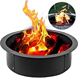 fire pit rings VBENLEM Fire Pit Ring 42 Inch Outside x 36 Inch Inside 3.0mm Thick Solid Steel Fire Pit Liner DIY Campfire Ring Above or In-Ground for Outdoor