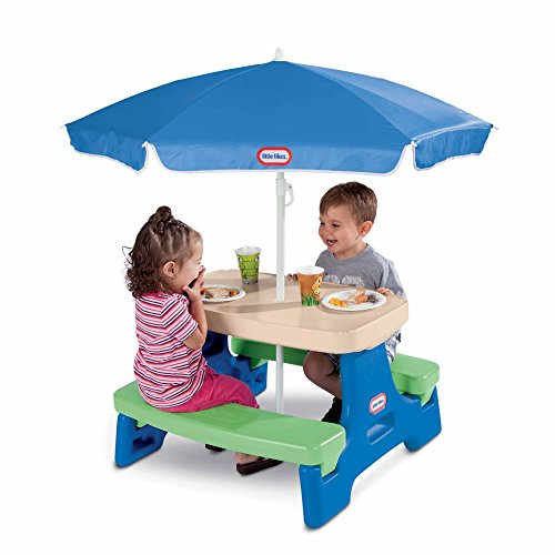 Little Tikes Easy Store Jr. Picnic Table with Umbrella