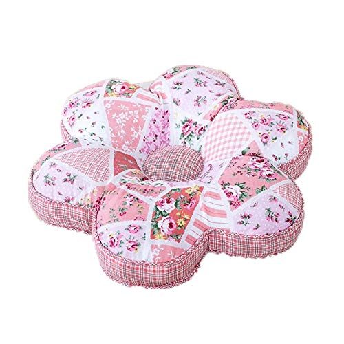 (Abreeze Plum Blossom Seat Shabby Rose Cushion Pink Pillow Fashion Chair Cushion Floor Cushion Floral Cushion Pillow Seat Pad 16x16inches)