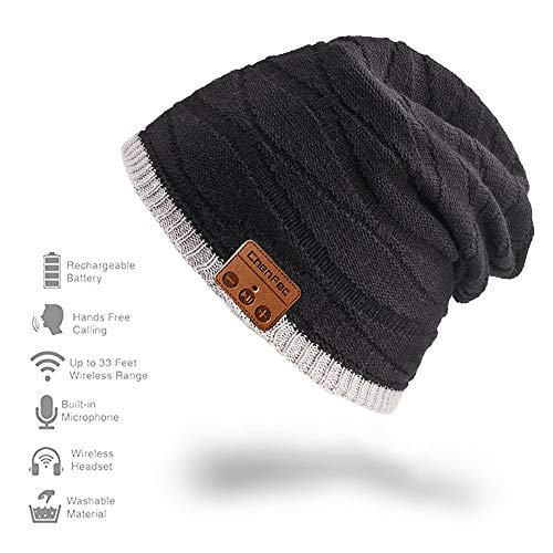 Bluetooth Beanie Hat Cap with Wireless Bluetooth Headphone Headset Earphone Music Audio Hands-Free Phone Call Winter Sports Fitness Gym Exercise, by DeeFec - Pineapple Head