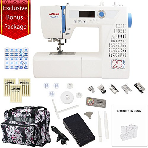 Janome NQM2016 National Quilt Museum 25th Anniversary Edition with Exclusive Bonus Bundle by Janome