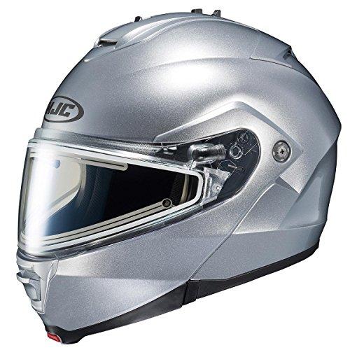 HJC Helmets Unisex-Adult IS-MAX II Electric Shield Helmet (Silver, Medium)